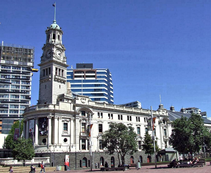 Aukland Town Hall Clock Tower, New Zealand image